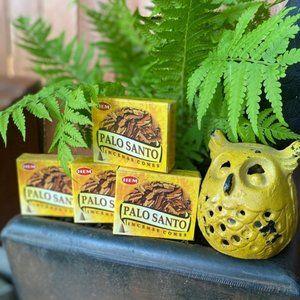 Hem PALO SANTO Incense Cones 4 Boxes NEW FIRM